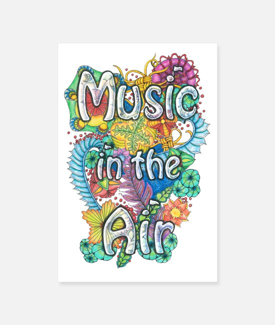Symbols Posters - Music in the Air - Posters white