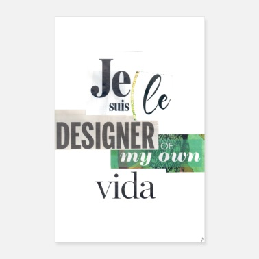 Language Designer of my own vida_PilouB.-Poster - Poster 8 x 12