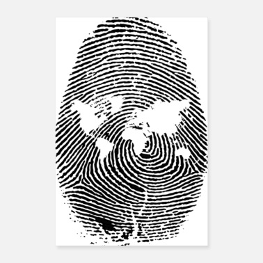Skirt fingerprint earth worlde - Poster