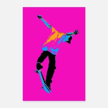Practice Flipping the Deck Skateboarding Stunt - Poster 8 x 12