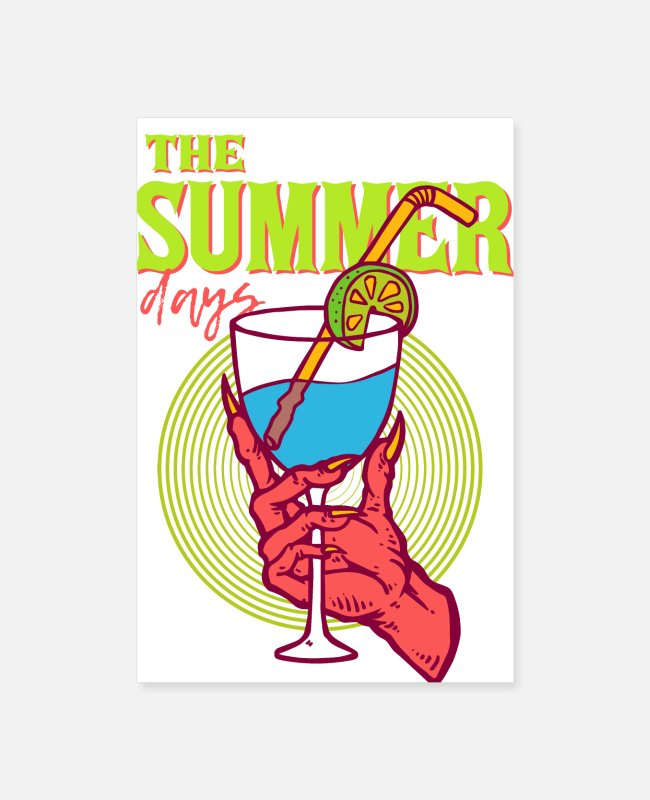 Drink From Hell Posters - A Drink From Hell - THE SUMMER DAYS - Devils Hand - Posters white