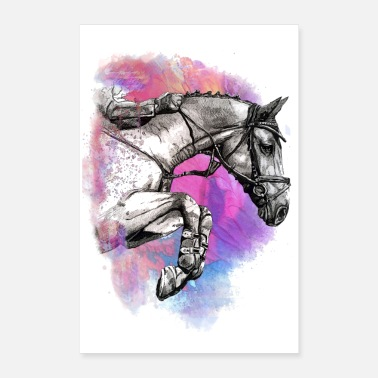 Gelding POSTER HORSE HORSES JUMPING - Poster