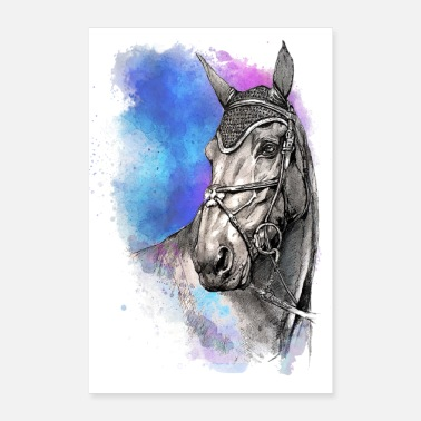 Show Jumping POSTER HORSES HORSE - Poster 8 x 12