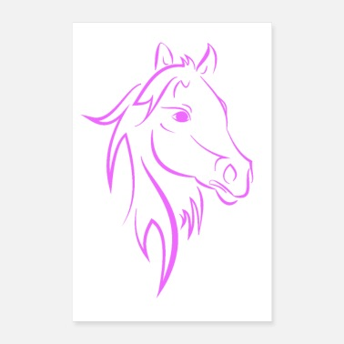 Saddle Horse pink - Poster