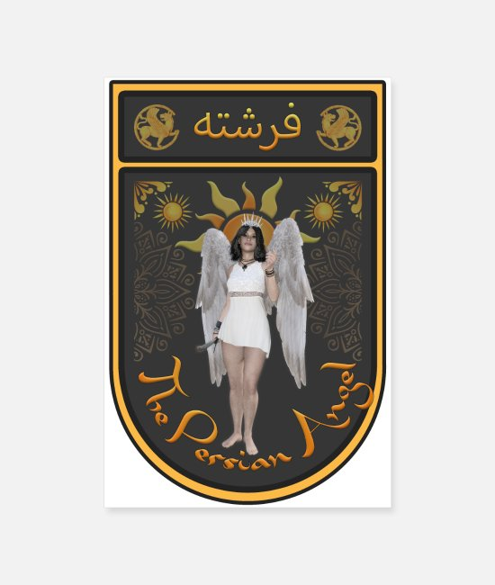 Angel's Wings Posters - Persian Angel Anahita - Farsi Angel - Posters white
