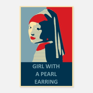 Girls Vermeer Girl With A Pearl Earring Poster - Poster
