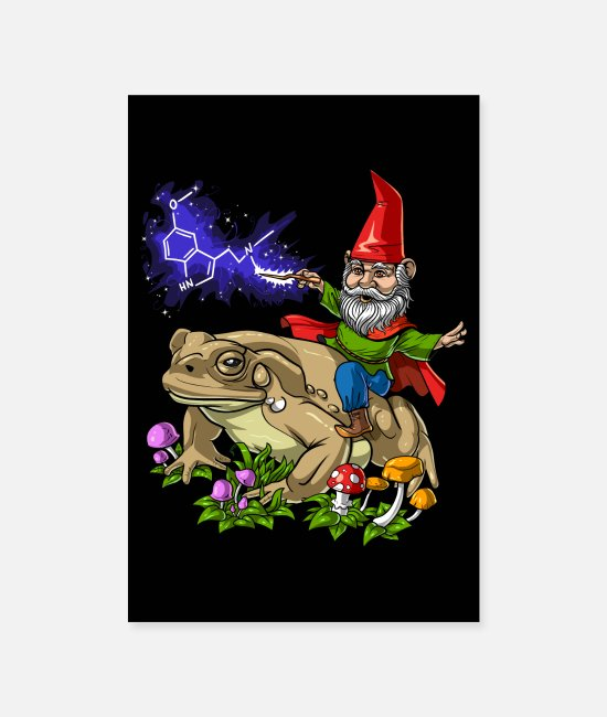 Trippy Posters - Psychedelic Gnome DMT Trip - Posters white