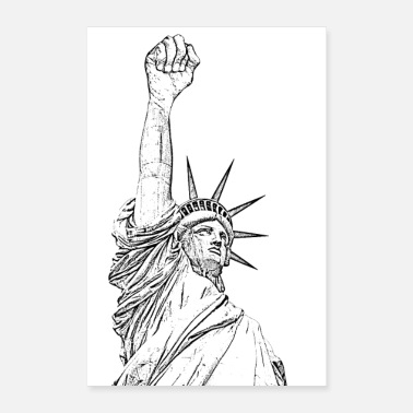 Statue Of Liberty Statue of Liberty, fist held high - Poster
