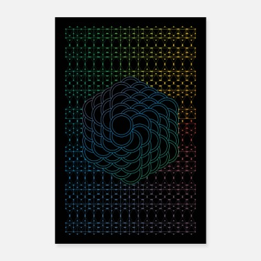 Sacred Blue Flower of Life - Poster