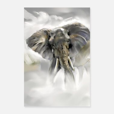 Elephant African Elephant - Poster