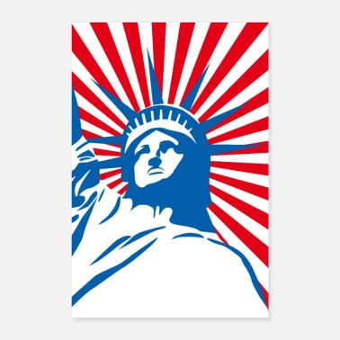 Statue Of Liberty Lady Liberty USA America - Pop Art New York NYC - Poster