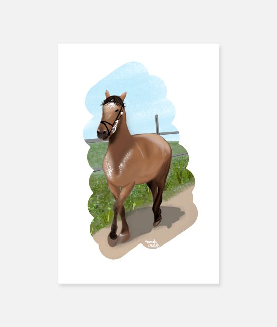I Love Posters - Horse riding - Posters white