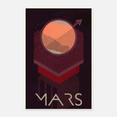 Abstract Mars Poster - Poster
