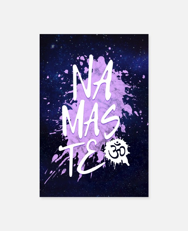 Hipster Posters - Spiritual Namaste Typography Poster - Posters white