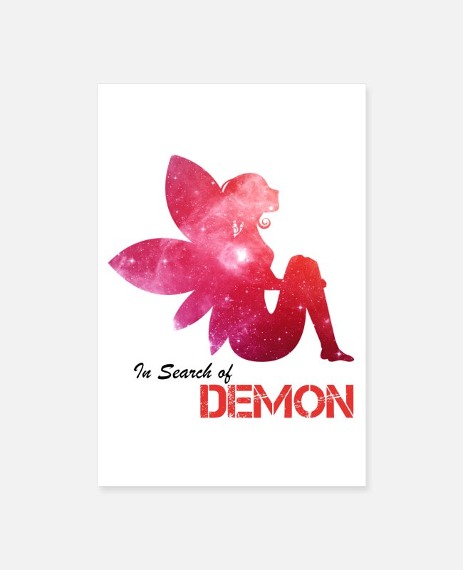 Angel's Wings Posters - Angel in search of Demon - Posters white