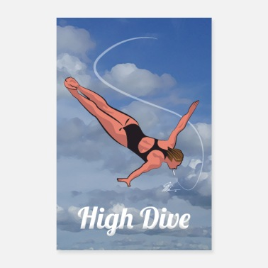Buzz High Dive Cannabis Wall Poster - Poster