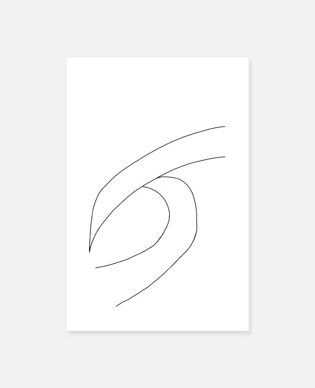 Hipster Posters - BREAKING WAVE | Minimalist Surf Art | Ocean Poster - Posters white
