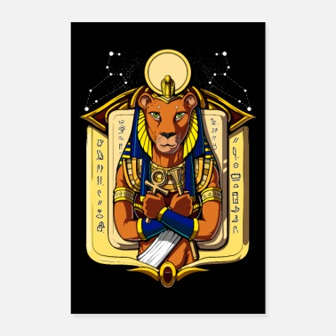 Egyptian King Egyptian Goddess Sekhmet - Poster