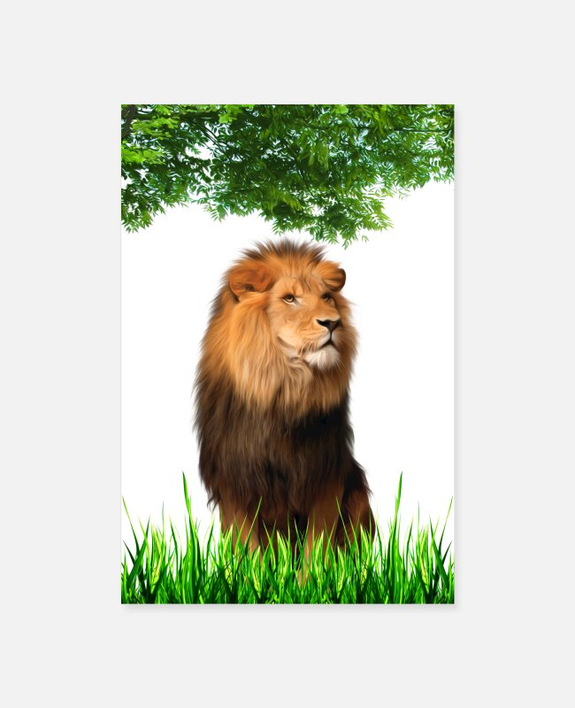 King Queen Posters - lion king jungle - Posters white