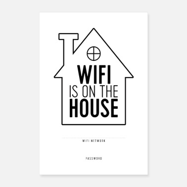 Write Your Name WiFi is on the House - Poster
