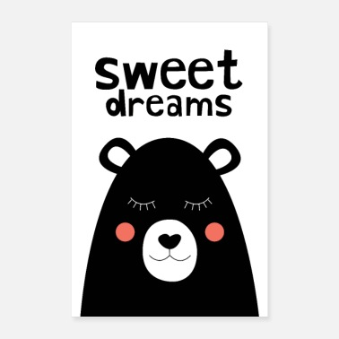 Bubaprints Sweet Dreams Nursery Print - Poster 8 x 12