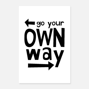 Birthday Go Your Own Way - Poster 8x12