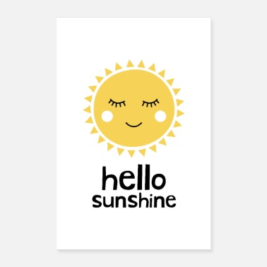 New Baby Hello Sunshine Yellow - Poster 8x12
