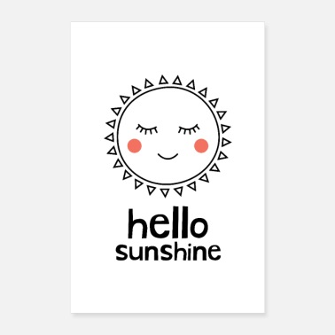 Buba Prints Hello Sunshine - Poster 8 x 12