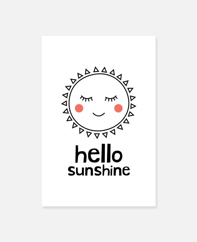 Easter Posters - Hello Sunshine - Posters white