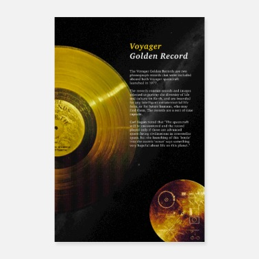 Cosmos Voyager 1 Golden Record - Poster