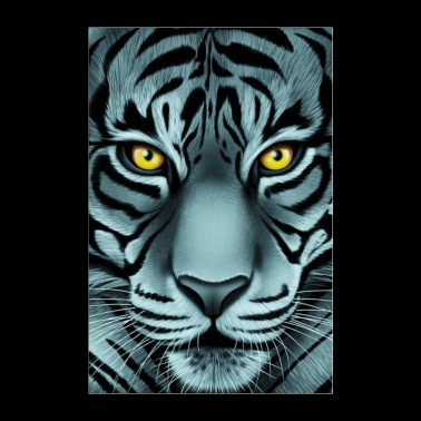 Stunning White Face Tiger - Poster 8x12