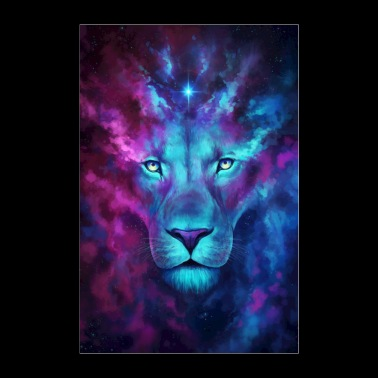 Cosmic Lion - Poster 8x12