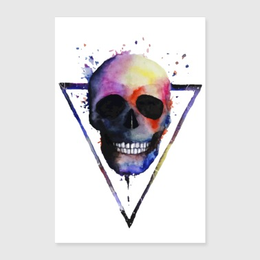 Watercolor Skull - Poster 8x12