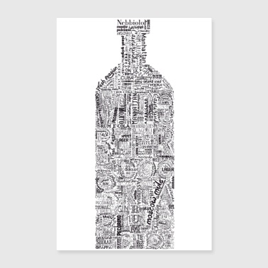 Bottle Full Tag Cloud - Poster 8x12