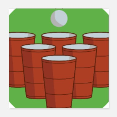 Game I'm Not Drinking I'm Playing Beer Pong - Poster