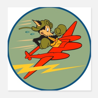 Group 428th Fighter Squadron, 474th Fighter Group - Poster