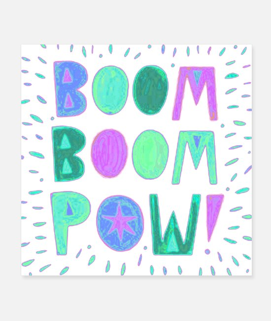 Quote Posters - Boom boom pom Title of Creativity Text Quotes - Posters white