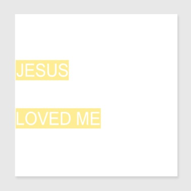 Fell in love with Jesus - Poster 8x8