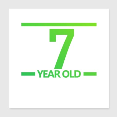 7-year old Logo - Poster 8x8