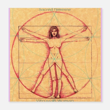 Travel Vitruvian Woman Poster - Poster