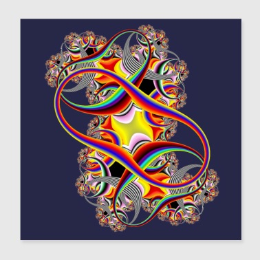 Double Infinity Fractal in Full Spectrum of Color - Poster 8x8