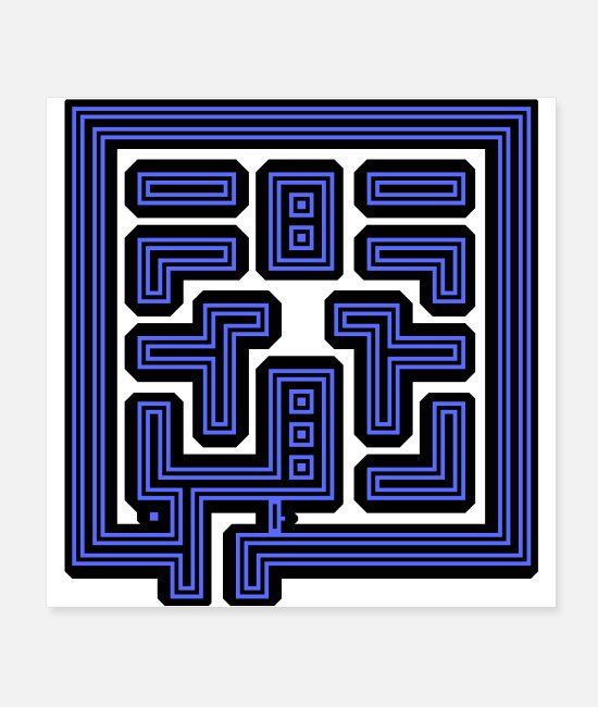 Geometry Posters - This Is Your Maze - Posters white
