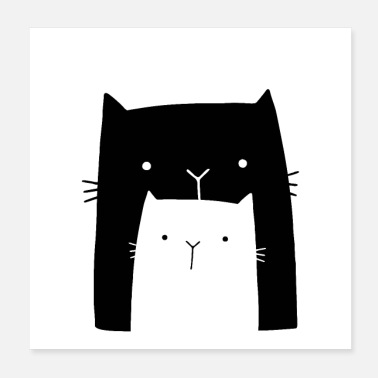 New Baby two cats cat cute gift idea - Poster 8x8