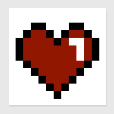 Heart Pixelated - Poster 8x8