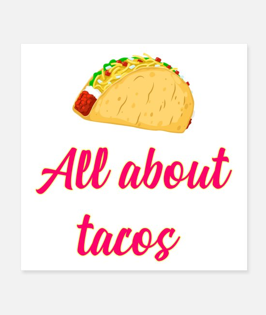 Chili Posters - Cinco De Mayo Tacos Design - Posters white