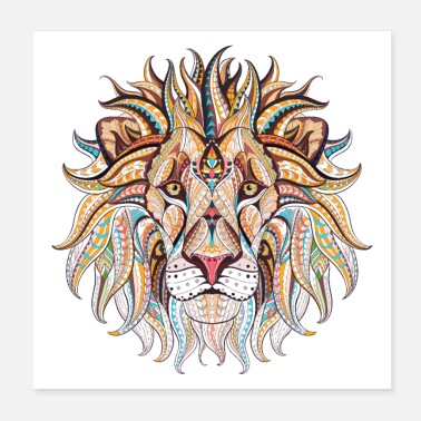 Travel Ethnic Tribal Lion - Poster