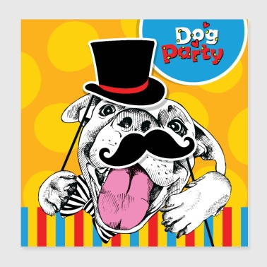 Funny Dog Party - Poster 8x8