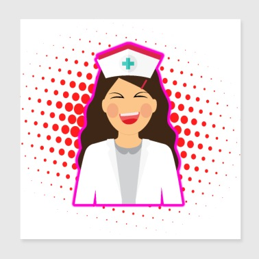 Nurse Heart Labs Design - Poster 8x8