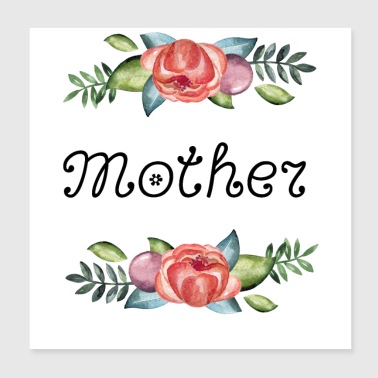 Flowers, mother - Poster 8x8