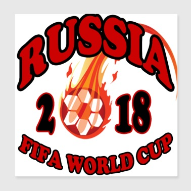 world cup Russia 2018 - Poster 8x8